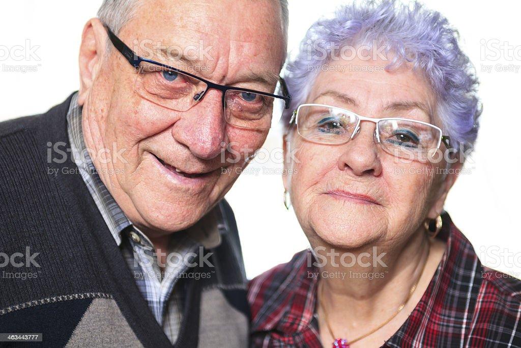 Senior Couple - White Background stock photo