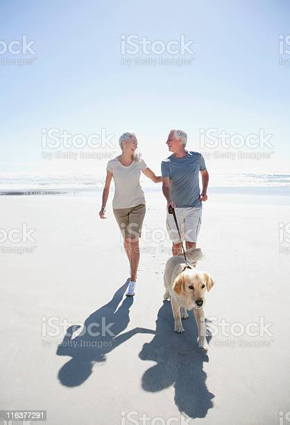 Senior couple with dog walking on beach picture id116377291?b=1&k=6&m=116377291&s=612x612&h=l28xi6oa4c5ufale jidjv79d2jc9dkefswmj8o3rzg=
