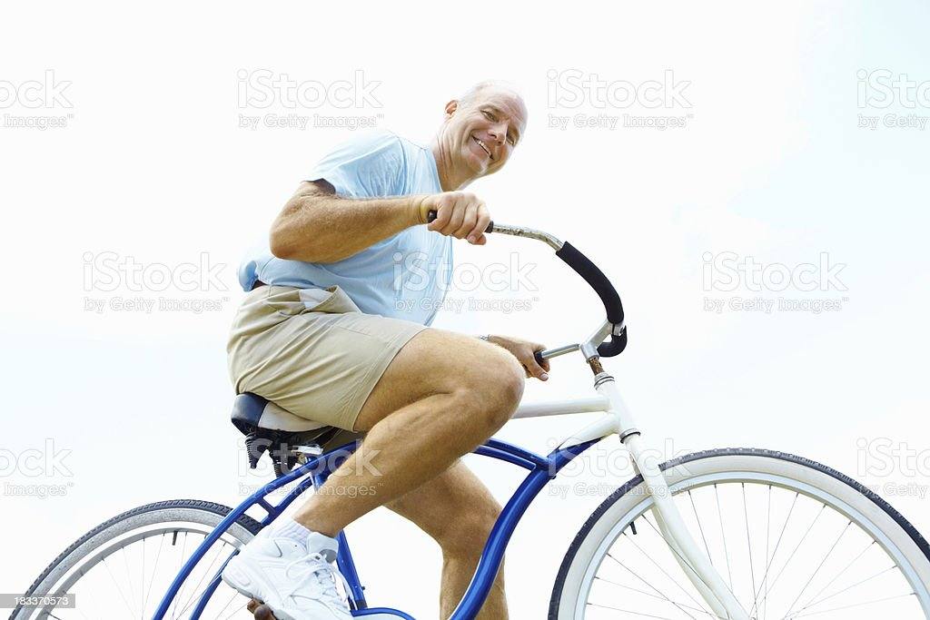 Senior cyclist royalty-free stock photo