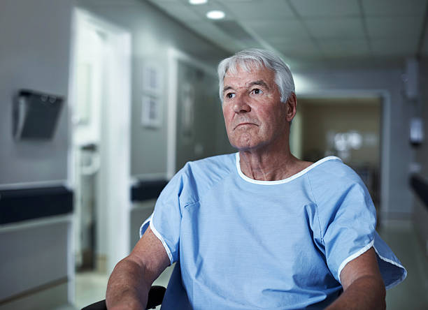 senior depression can be treated with the right support - psychiatric ward stock photos and pictures