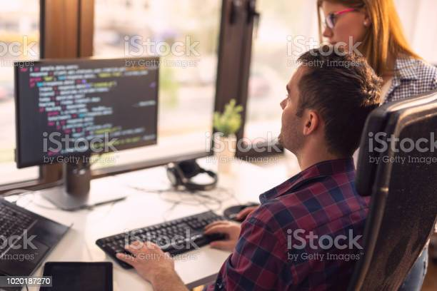 Senior Developers Working Stock Photo - Download Image Now