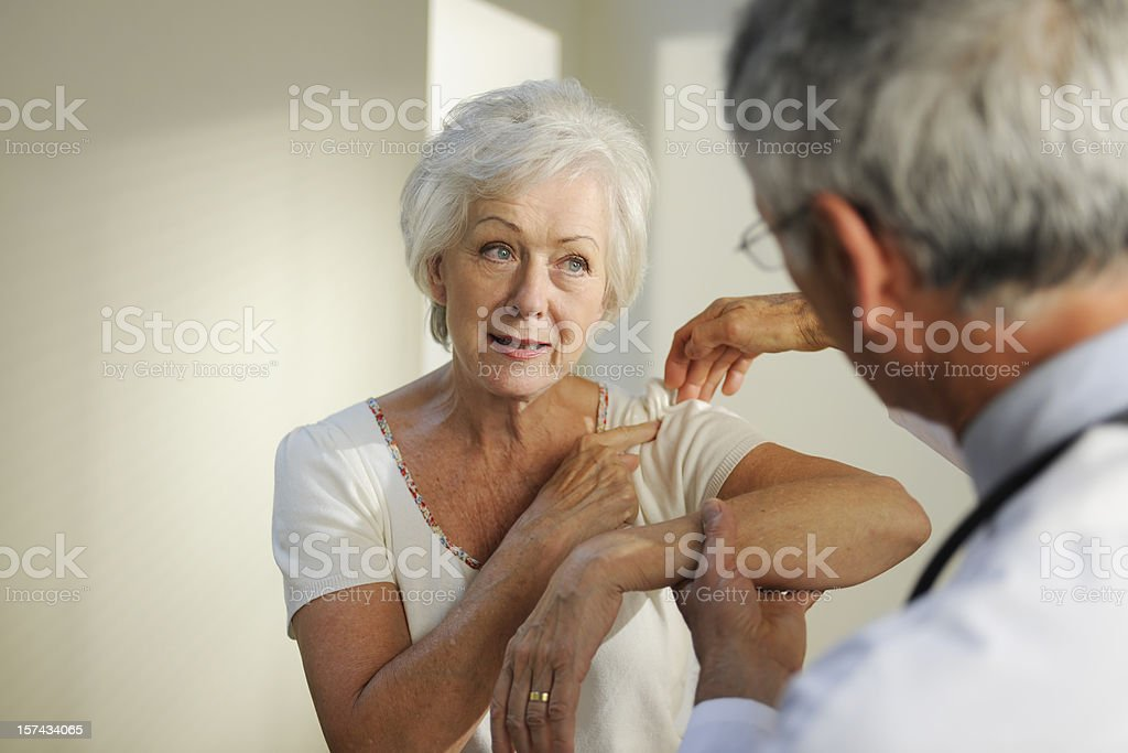 Senior Doctor and Patient stock photo