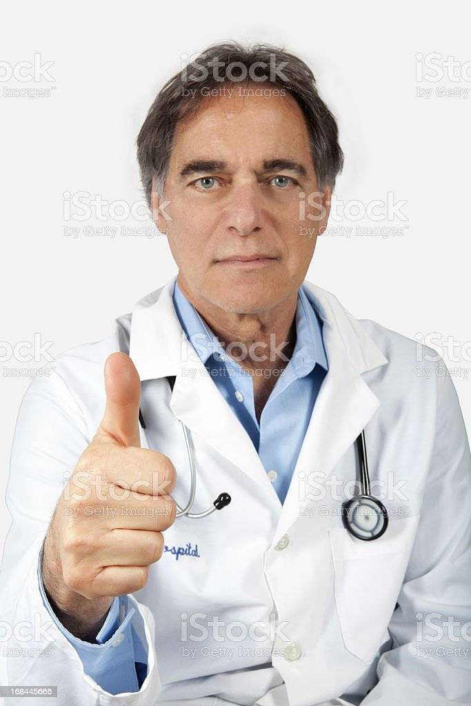Senior Doctor thumbs up royalty-free stock photo