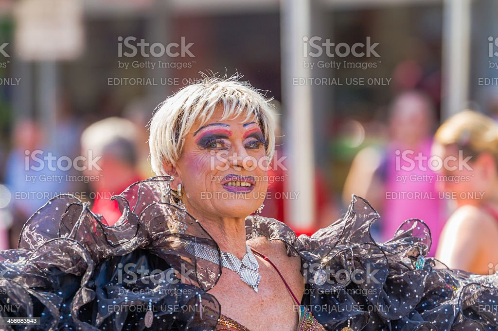 Senior Drag Queen at Christopher Street Day royalty-free stock photo