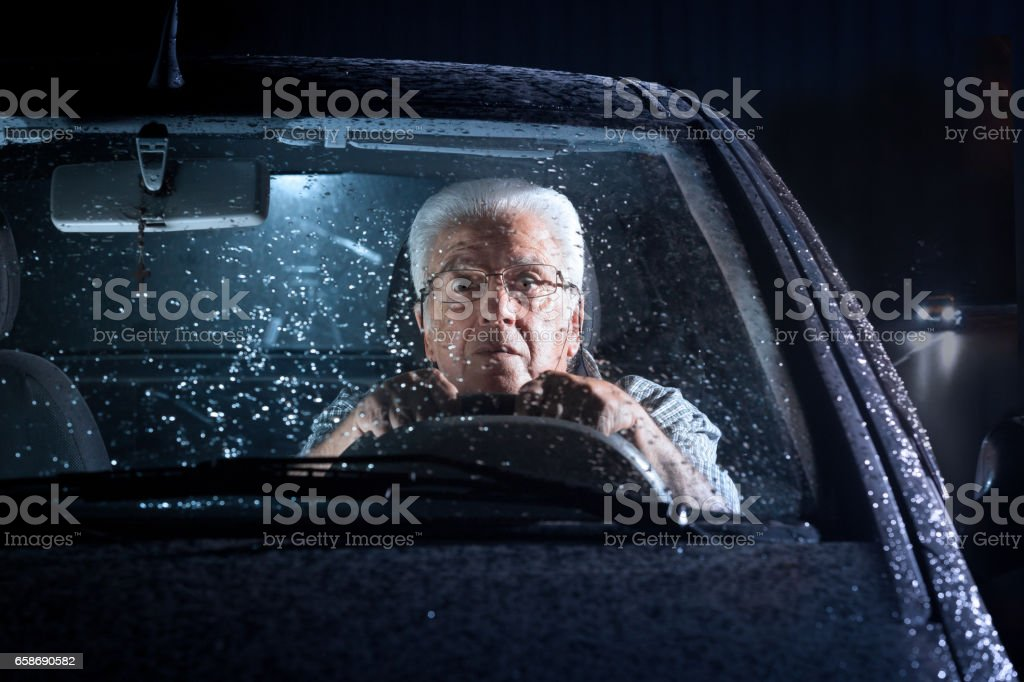 Senior, Autofahren – Foto