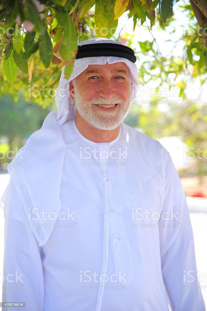 Senior Emiriati man stock photo