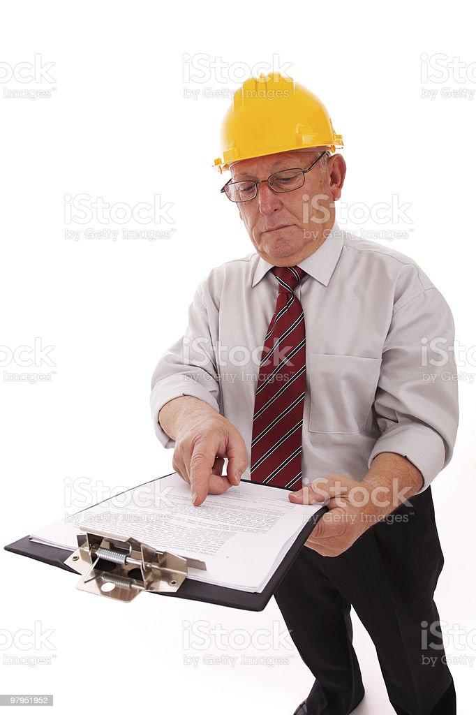 Senior Engineer royalty-free stock photo