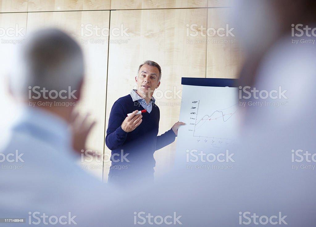 Senior executive eine Präsentation – Foto