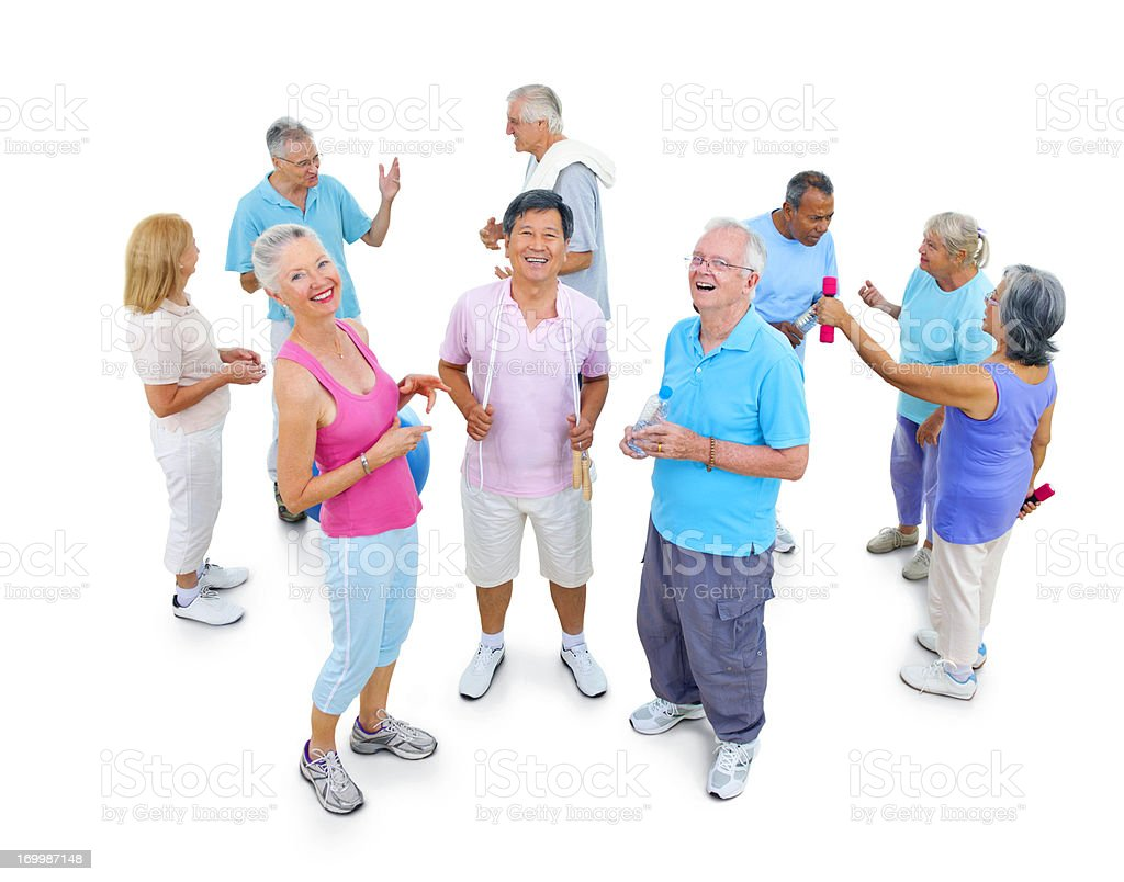 Senior exercise group. royalty-free stock photo