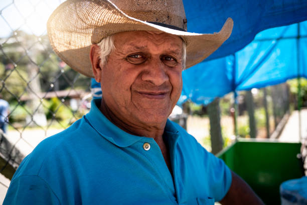 Senior farmer/countryside man Portraits farm worker stock pictures, royalty-free photos & images
