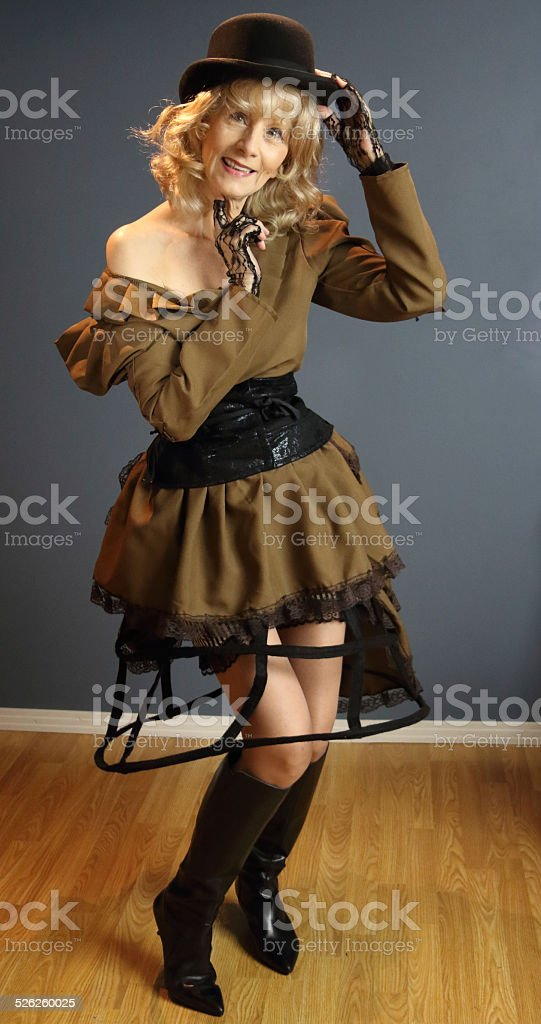 Senior Female Adult In Costume stock photo