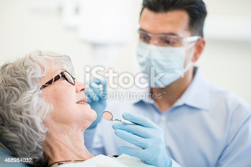 istock Senior Female at the Dentist 468984032
