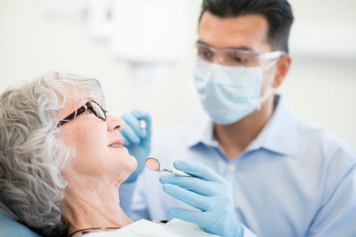istock Senior Female at the Dentist 468984032