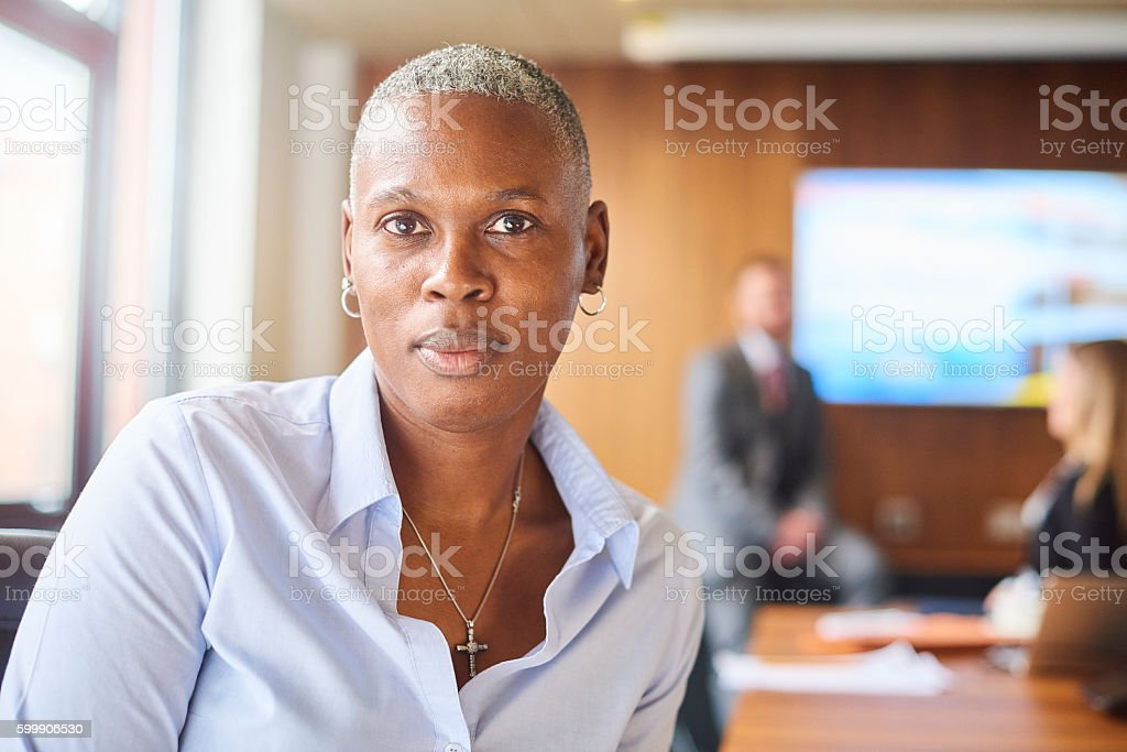senior female company director stock photo