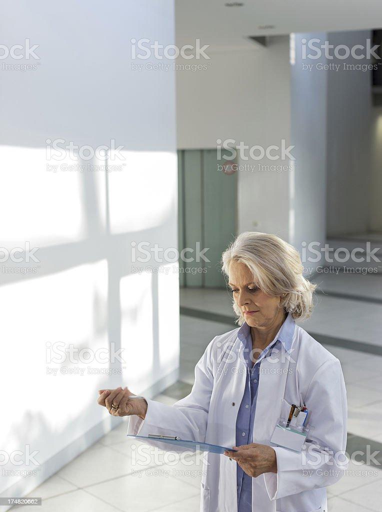 Senior Female Doctor royalty-free stock photo
