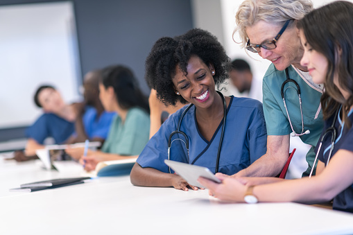 nurse education stock photos