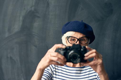 Senior female photographer