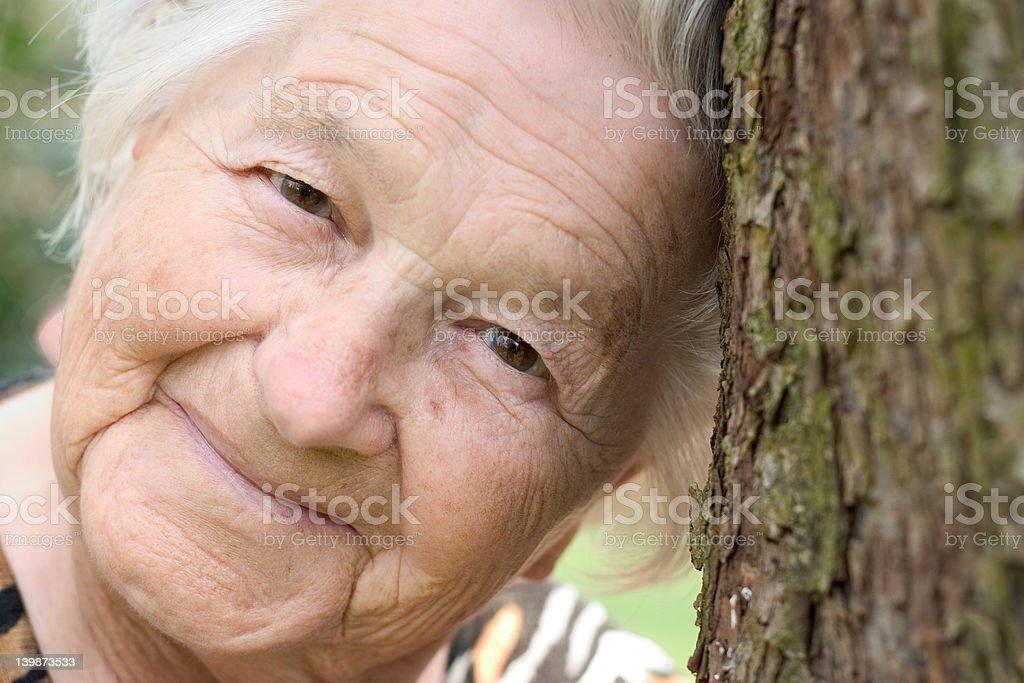 Senior female royalty-free stock photo