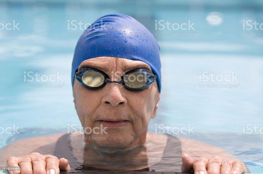 Senior weiblich Schwimmer – Foto
