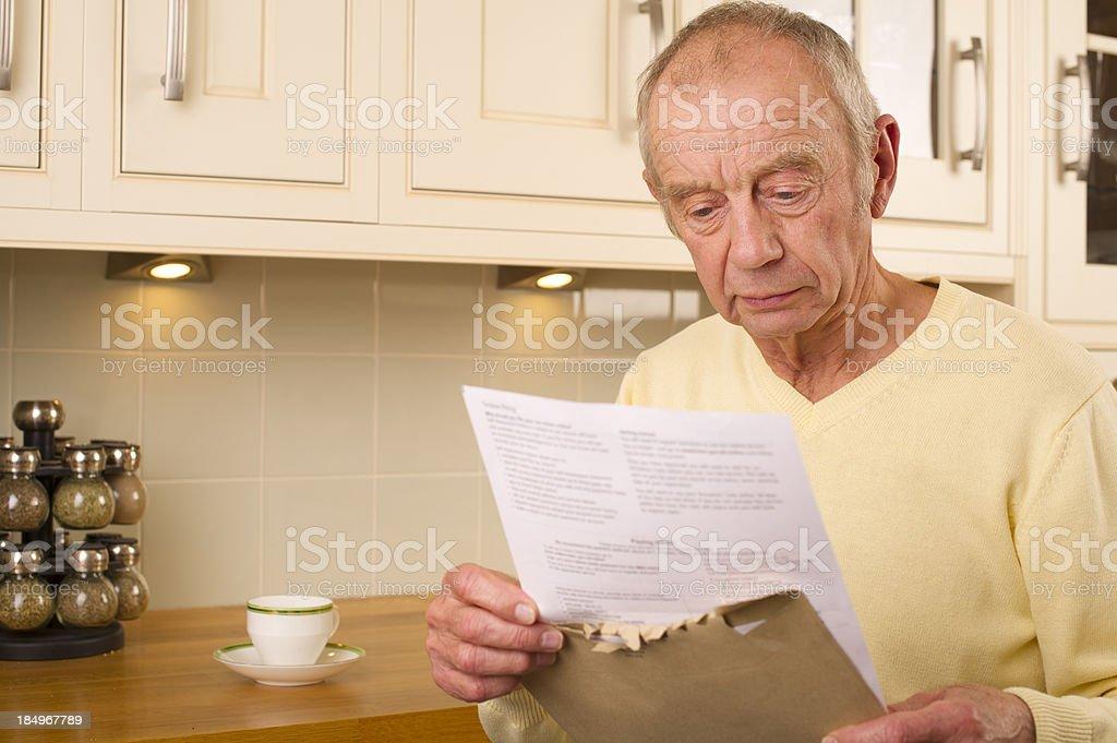 senior financial worry royalty-free stock photo