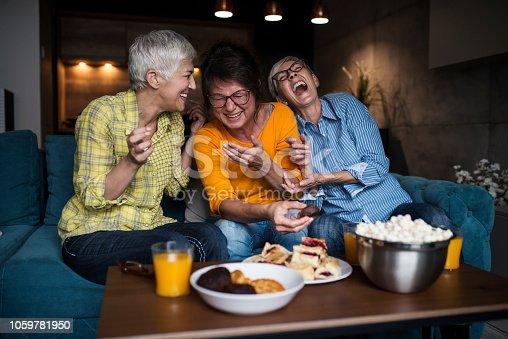 Senior Friends Enjoying Time at home
