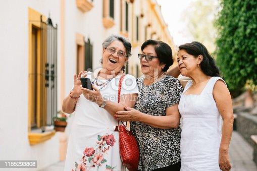 Three Senior Girlfriends Traveling Mexico