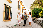 Three Senior Girlfriends Traveling Mexico