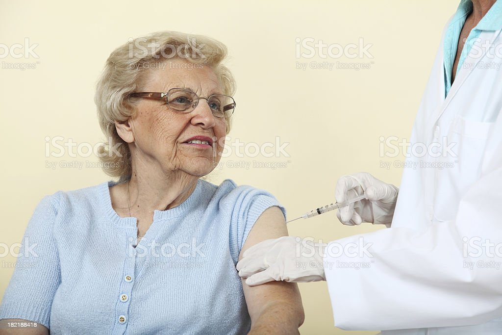 Senior Getting A Shot royalty-free stock photo