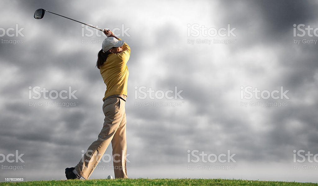 Senior Golfer royalty-free stock photo