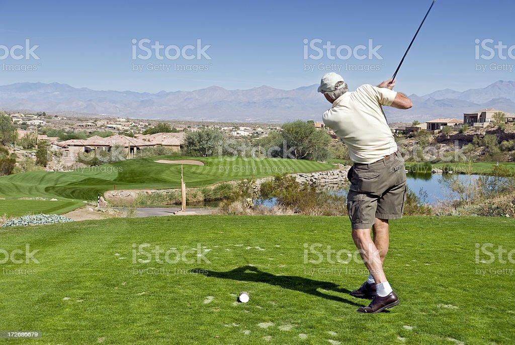 Senior Golfer stock photo