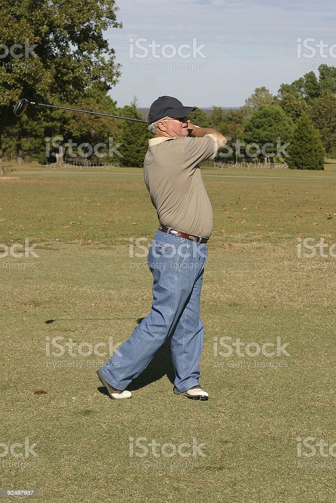 Senior Golfer royalty-free stock photo