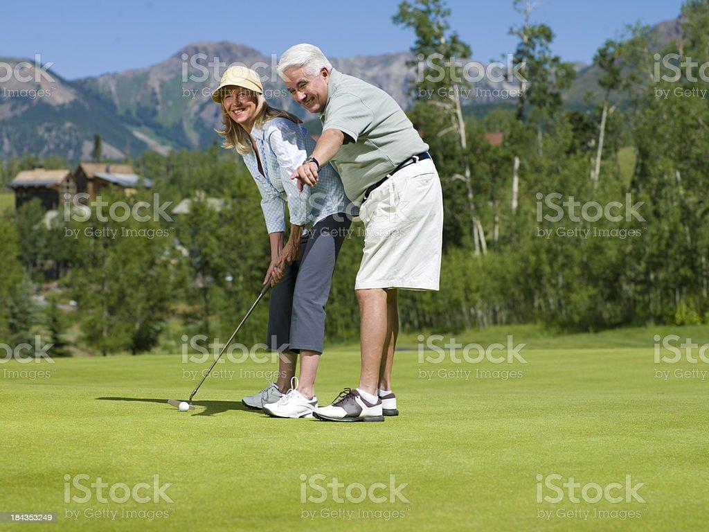 Senior Golfers stock photo