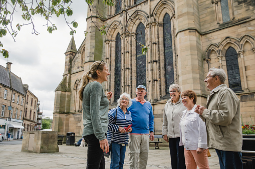Senior Group Doing a Tour in Hexham