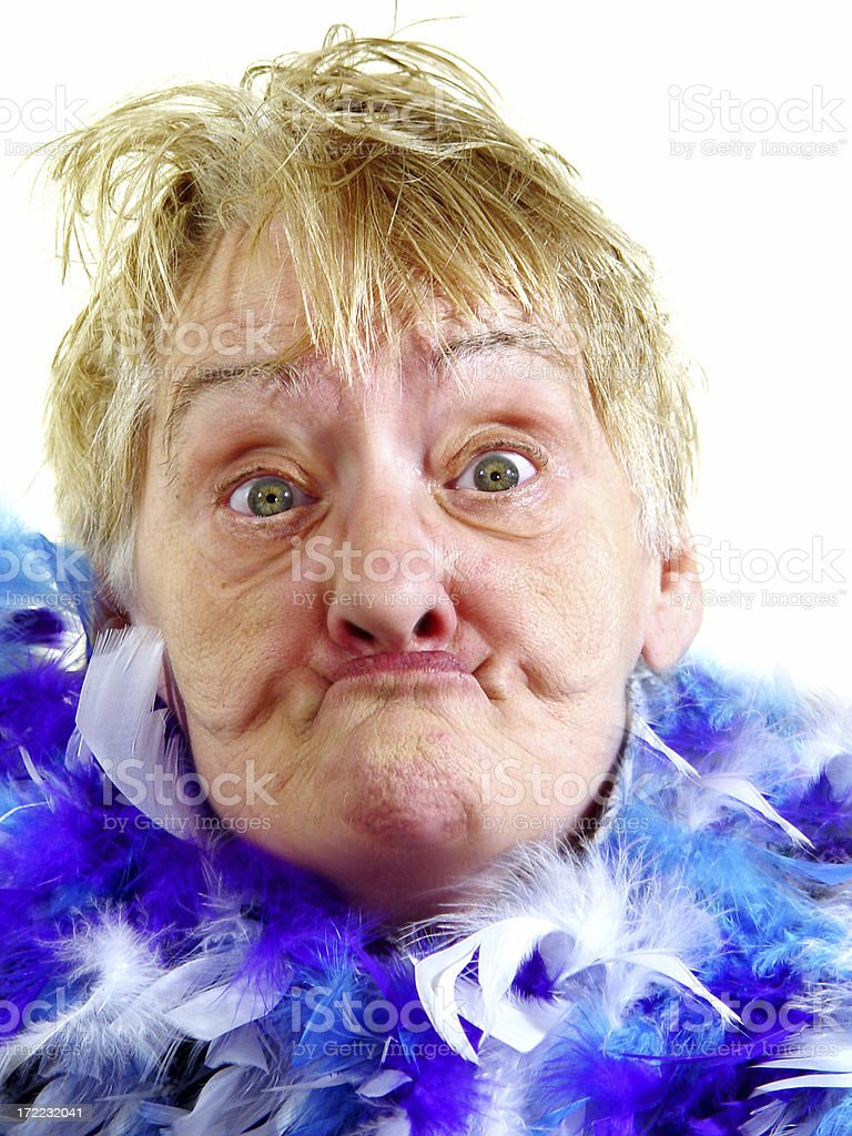 senior - gurning royalty-free stock photo