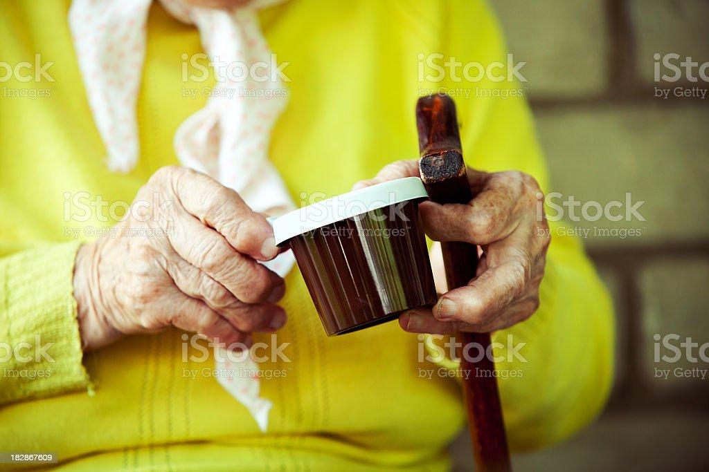 Senior hands royalty-free stock photo