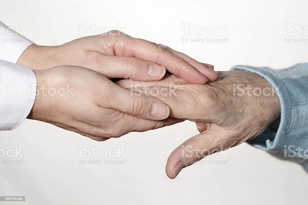 Senior hands - Royalty-free 80-89 Years Stock Photo