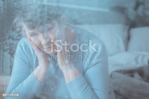 istock Senior having memory disorder 837175126