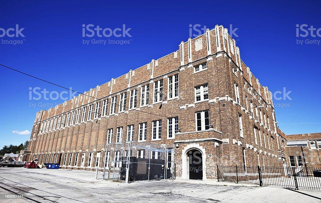 Senior High School in Belmont Cragin, Chicago royalty-free stock photo