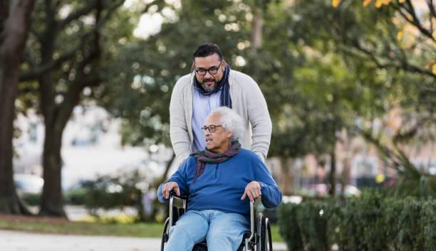 Senior hispanic man in wheelchair with adult son picture id1204282419?b=1&k=6&m=1204282419&s=612x612&w=0&h=2sk11r qn1ob1j5soluyoz2dn3kcgxz8rpjwotusgse=