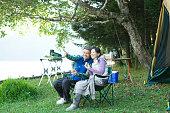 高齢者夫婦キャンプ