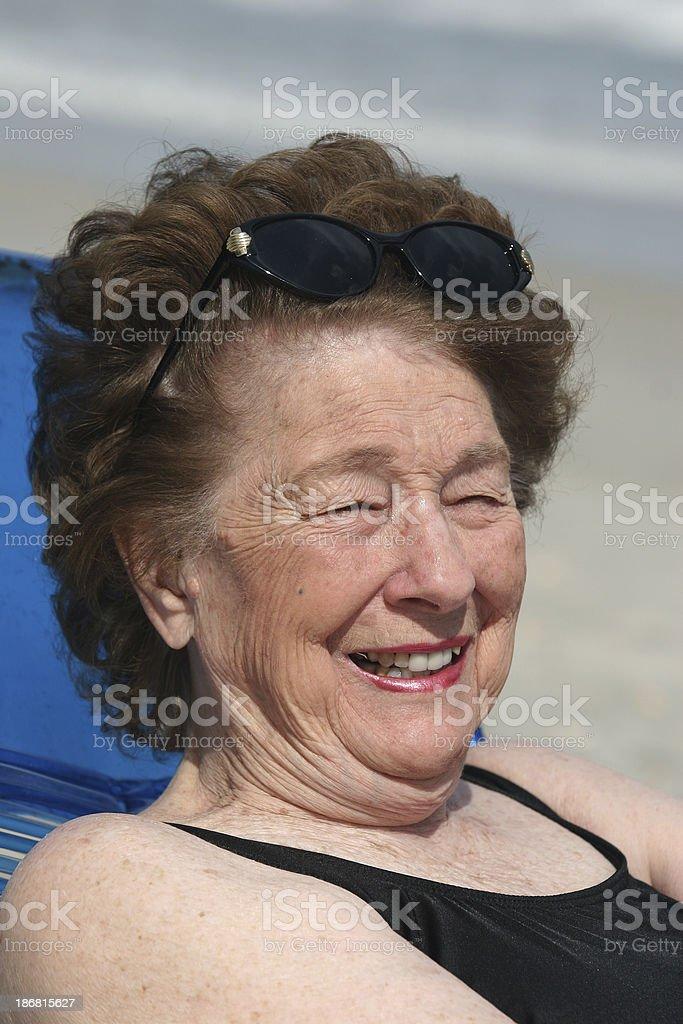 Senior in the Sun stock photo