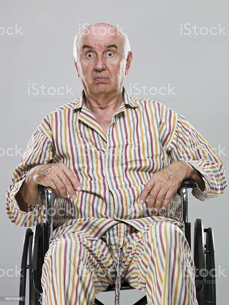 Senior in wheel chair royalty-free stock photo
