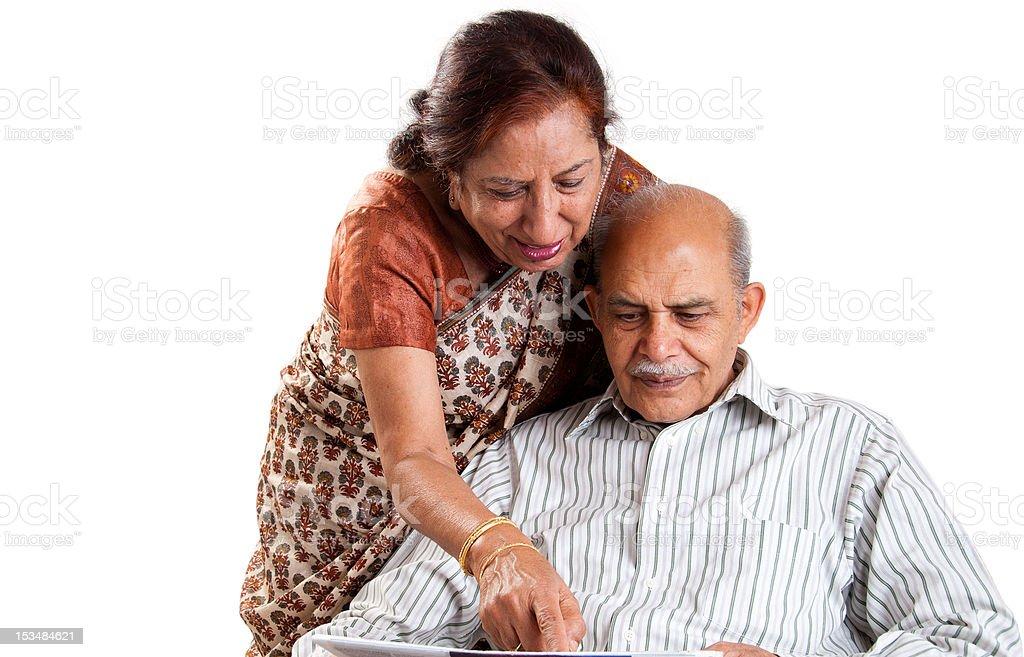 Senior Indian couple stock photo