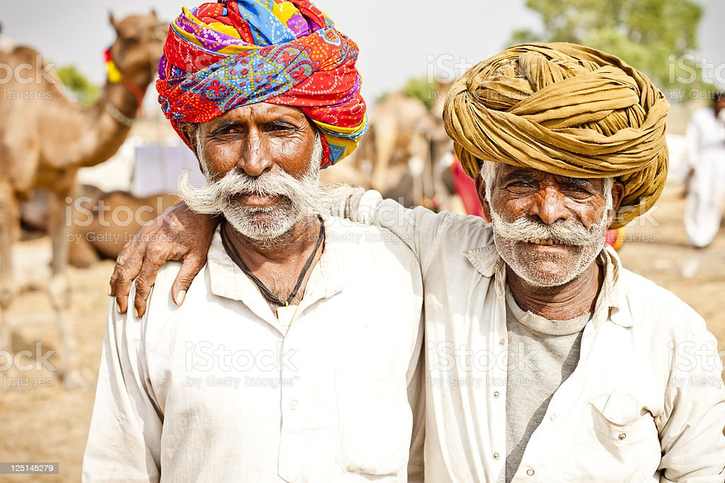Senior Indian Friends stock photo