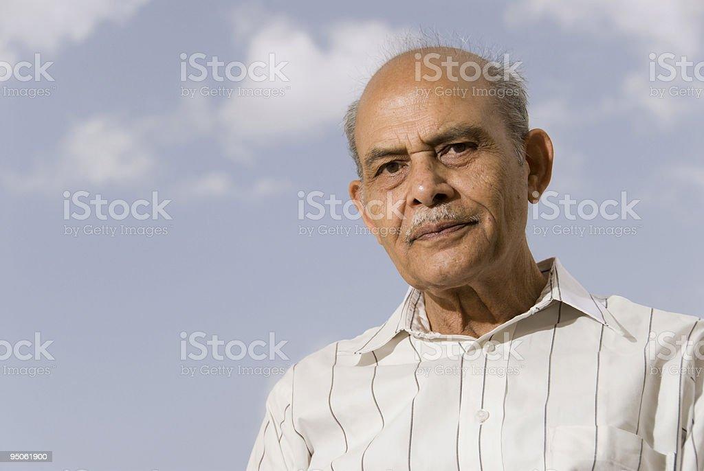 Senior Indian Man stock photo