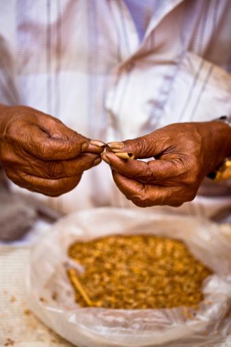 Senior Indian Rolling Biddies Stock Photo - Download Image Now