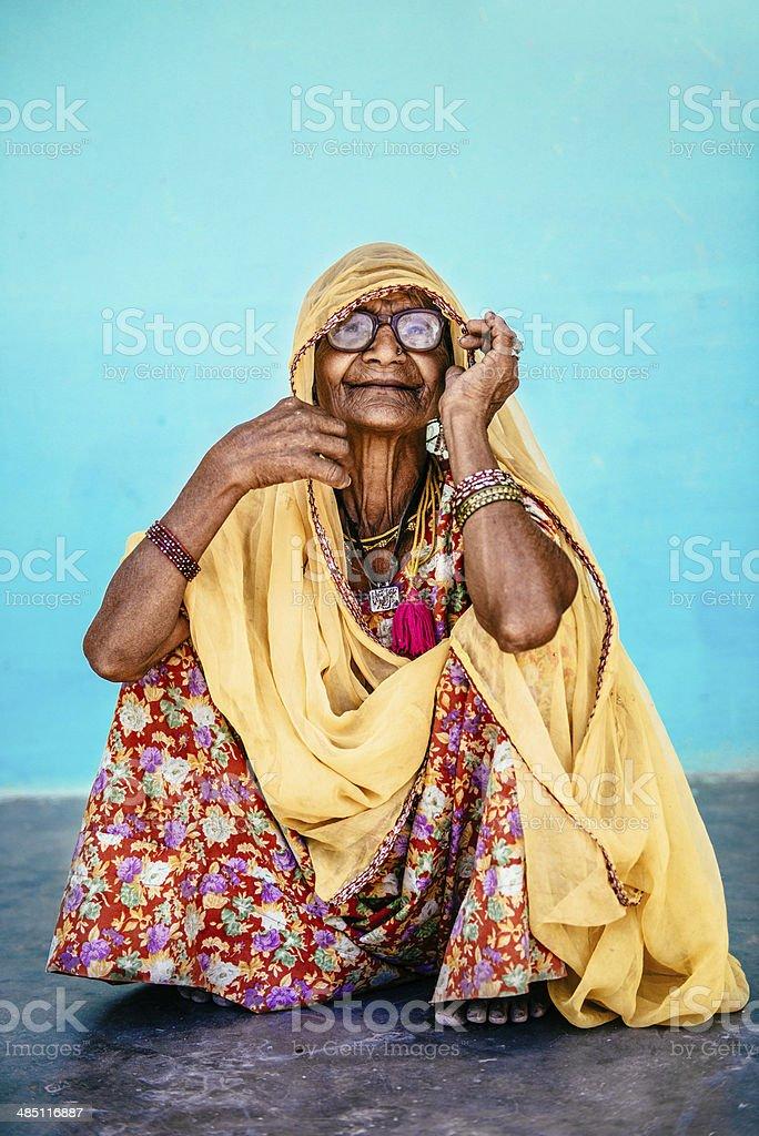 Senior Indian Woman royalty-free stock photo