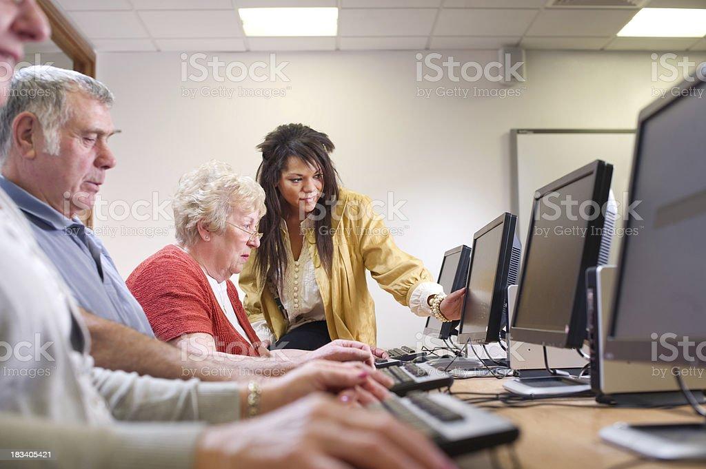 senior IT class stock photo