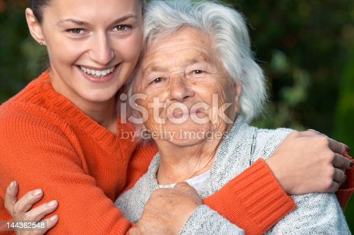 istock Senior lady and her granddaughter 144362548