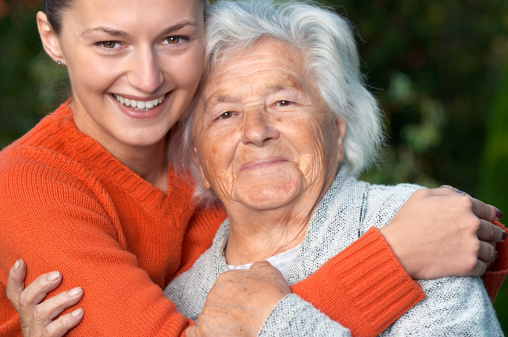 144362548 istock photo Senior lady and her granddaughter 144362548